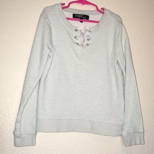 NWOT, Adorable Baby blue & silver sparked sweater